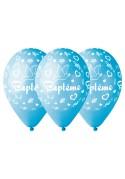 Ballons gonflables Bleus pour déco Baptême Garçon