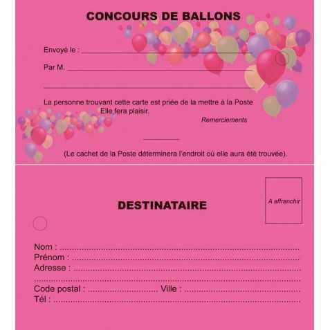 cartes lacher de ballons mariage