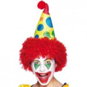 Chapeau de Clown avec Cheveux Rouges pour Enfant