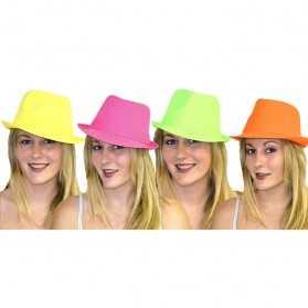 Chapeau de soirée à thème Fluo