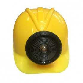 Casque jaune de Mineur avec fausse lampe