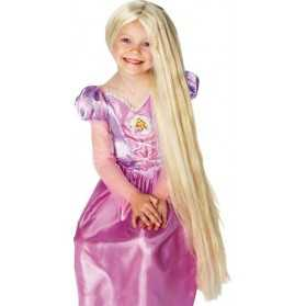 Perruque Raiponce avec mèches phosphorescentes pour Enfant