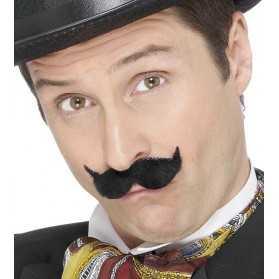 Fausse Moustache noire de Médecin de campagne