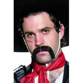 Moustache noire de Cow Boy Mexicain