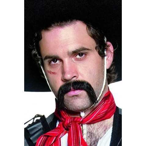 Moustache noire de Cow Boy Mexicain