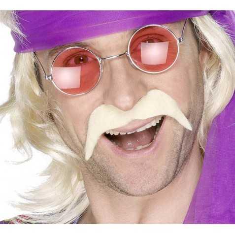 Fausse Moustache de Hippie blonde