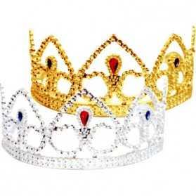 Tiare dorée de Princesse pour Adulte