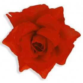 Broche avec une belle Rose rouge