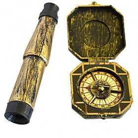 Kit de Capitaine avec Longue vue et Compas
