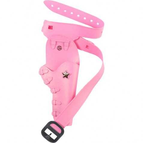 Holster de Cowgirl avec ceinture rose