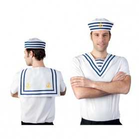 Col Marin Rayé bleu et blanc