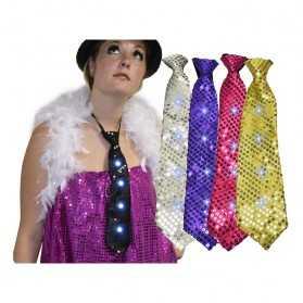 1 Cravate lumineuse pour soirée de fête