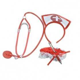 Kit accessoires pour se déguiser en Infirmière Sexy