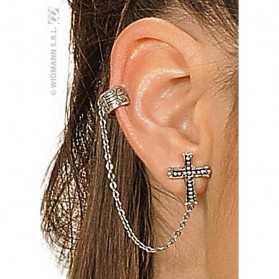 Boucles d'oreilles en forme de Croix Gothique