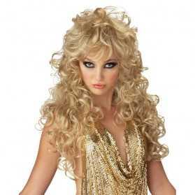 Perruque de Femme Fatale aux cheveux blonds
