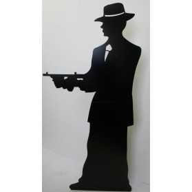 Figurine Géante d'une Silhouette de Gangster