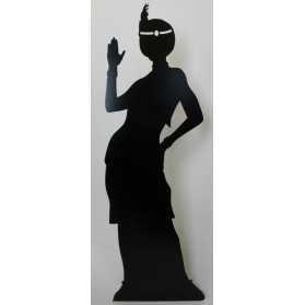 Figurine Géante d'une Silhouette de Danseuse de Charleston