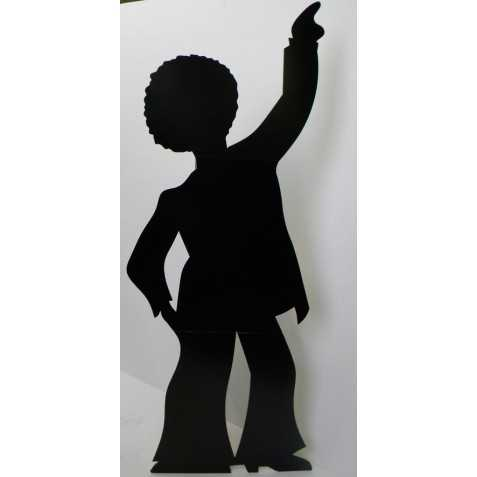 Figurine Géante d'une Silhouette de Danseur de Disco