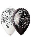 10 ballons avec motifs Partitions de musique Blancs et Noirs