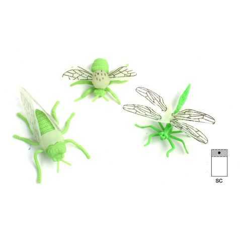 1 Figurine d'Insecte phosphorescent