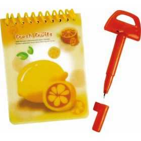 Carnet Fresh Fruits avec Stylo