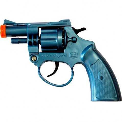 Pistolet Détective plastique Bleu 8 coups