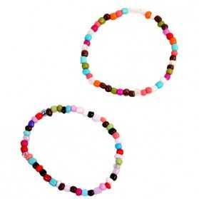 1 Bracelet de perles multicolores
