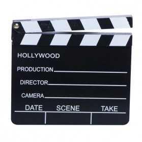 clap de Cinéma noir et blanc pour déco de table à thème cinéma