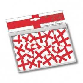 Confettis de table aux couleurs du drapeau de l'Angleterre