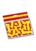 Confettis de table aux couleurs du drapeau de l'Espagne