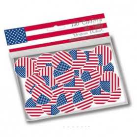 Confettis de table aux couleurs du drapeau USA