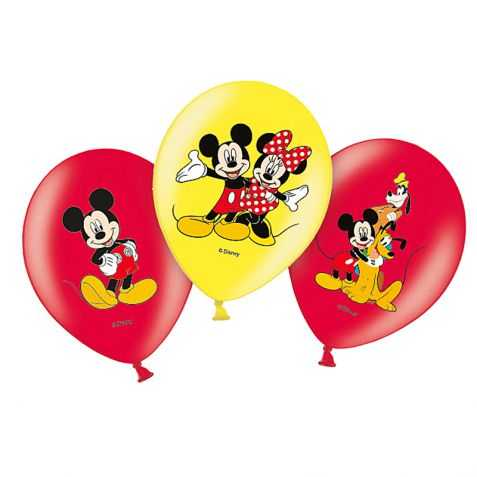 6 Ballons de fête Mickey pour déco d'anniversaire
