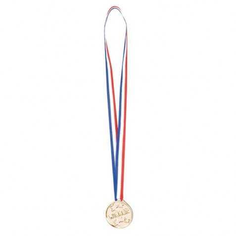 6 médailles du Vainqueur sur ruban tricolores