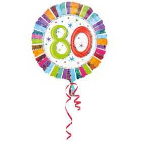 Ballon géant avec chiffre 80 pour déco anniversaire 80 ans