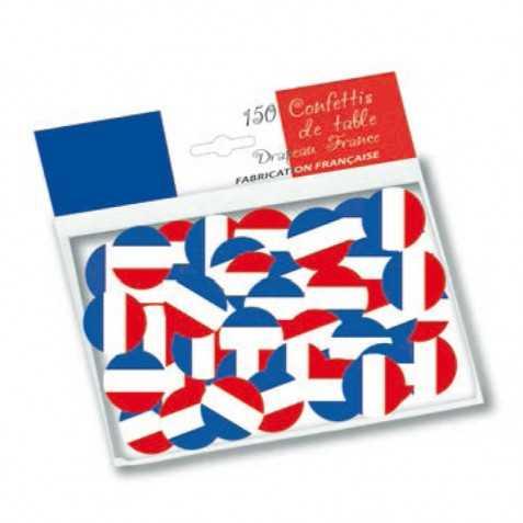 Confettis de table bleu blanc rouge
