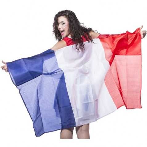 Poncho polyester avec motif Drapeau Français