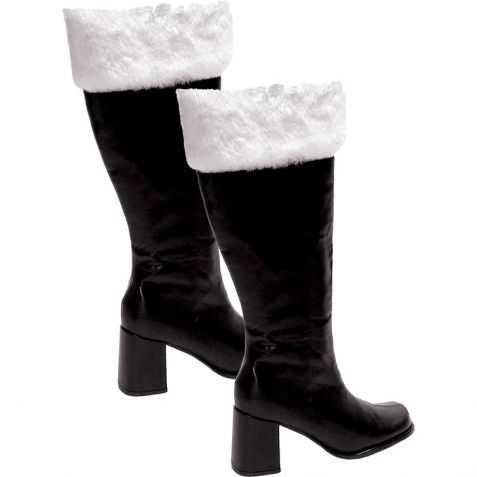 bottes gogo noires avec fourrure blanche taille 39/40