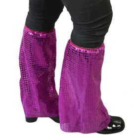 pattes d'éléphant à paillettes violet