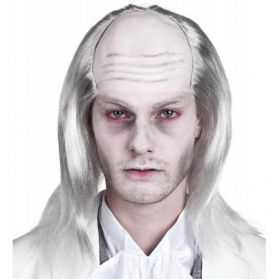 Perruque de Zombie avec cheveux blancs