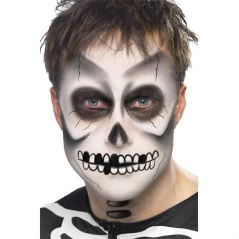Kit pour se maquiller le visage en Squelette