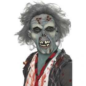 Masque de Zombie aux cheveux gris