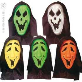 1 Masque Halloween avec capuche et yeux invisibles