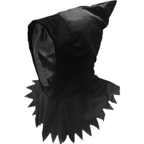 Cagoule noire halloween avec visage invisible