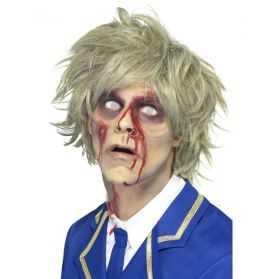 Perruque de Zombie aux cheveux blonds