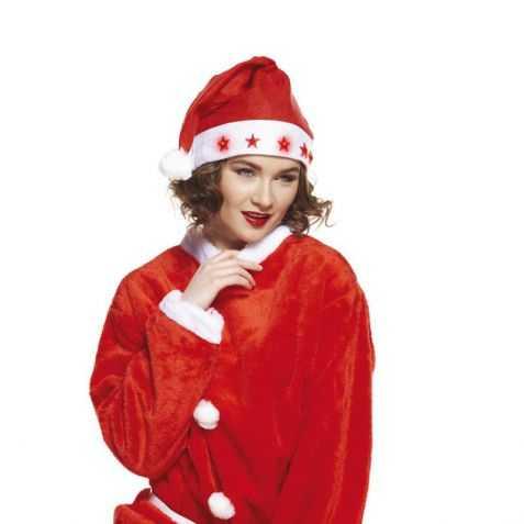 Bonnet de Père Noel lumineux avec motif Etoiles