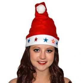 Bonnet de Père Noel lumineux avec motif Noel
