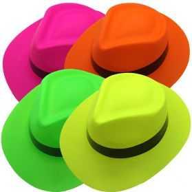 1 Chapeau Al Capone fluo