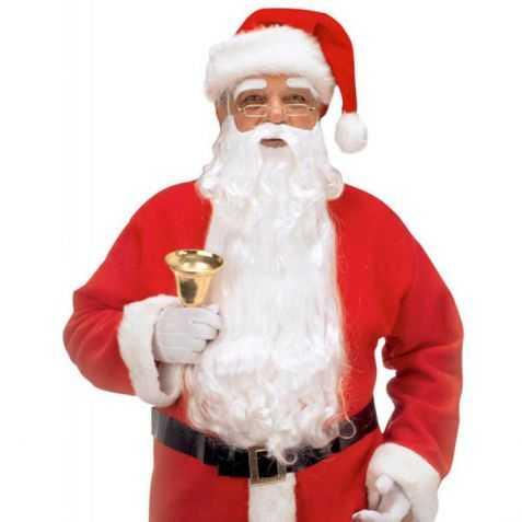 Barbe de Père Noel avec moustache et cache sourcils