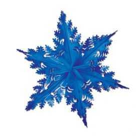 Flocon de neige géant métallisé Bleu