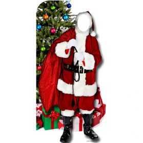 Figurine Géante Père Noel passe-tete pour photo